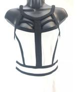 Buffalo By David Bitton Women's Sleeveless Dress White Black Sz Small Fi... - $17.81