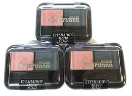 Lot of 3 Jordana Eyeshadow #ES/10 Melon (Shimmer) / Teal (Matte) NOS Duo Bundle - $5.40