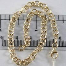 Pulsera Oro Amarillo o Blanco 750 18K Rolo, Círculos 4 mm, 19 cm, Hecho ... - $307.13
