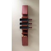 Sleek Wooden Wine Wall Rack - $59.95