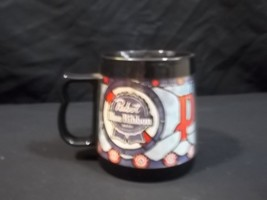 Pabst Blue Ribbon Beer Thermo Serve Mug Cup Vintage Made in USA West Bend - $14.80