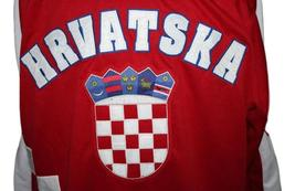 Any Name Number Croatia Hrvatska Retro Hockey Jersey New Sewn Red Any Size image 4