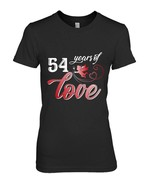 Perfect T Shirt For 54th Anniversary Husband Wife Gift - $19.99