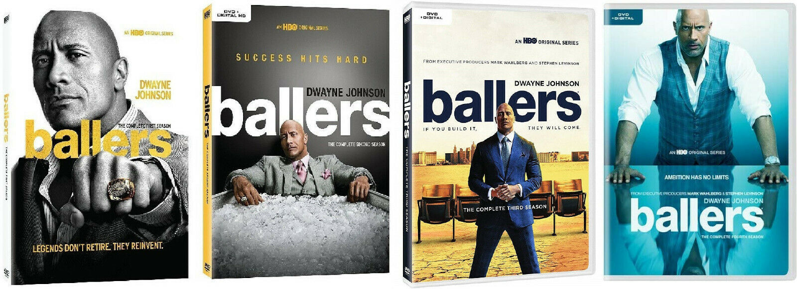 Ballers - The Complete Series Seasons 1 2 3 & 4 [DVD Sets New] The Rock