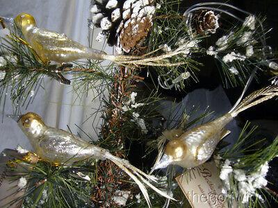 3 Bethany Lowe Vintage Glass Bird Ornaments