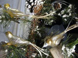 3 Bethany Lowe Vintage Glass Bird Ornaments  image 1