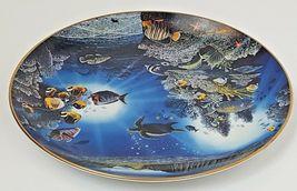 Danbury Mint Underwater Paradise Serenity Of Waipio Plate 1991 Robert Lyn Nelson image 3