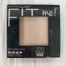 Maybelline NY Fit Me! Pressed Powder Set+Smooth Normal/Dry Natural Beige 220 NEW - $9.97