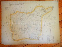 """1883 antique 15""""x20.5"""" MAP LONDONDERRY PA from breou's atlas - $42.50"""