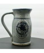 Vintage Gray Korn Pottery Georgia Renaissance Festival 1987 Stein Large ... - $43.65