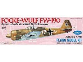 Model Airplane Kit Flying Guillow's WW II Folke-Wulf Fw 190   GUI-502 - $22.01