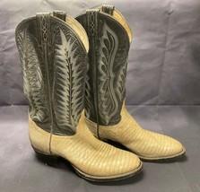 Tony Lama Men's Lizard Leather Cowboy Western Boots Style 8560 Size 7 1/2 - $44.42