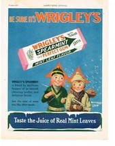 "1929 Magazine Ad ""Be Sure It's WRIGLEY'S"" Colorful Gum Advertisement - $2.50"