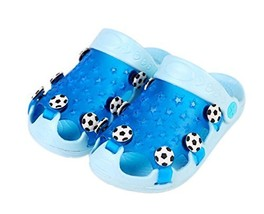 Kids Sandals In/Outdoor Toddler Clogs Shoes/Blue Football 15.5CM Length