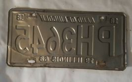 OLD 1968 ILLINOIS STATE LICENSE PLATE CAR AUTOMOBILE TAG IL YEAR 68 image 3