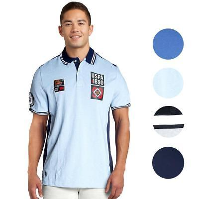 US Polo Assn Men's Short Sleeve Slim Fit Chest Patch Striped Pique Polo Shirt