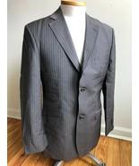 Ted Baker 40R Brown Pinstripe Endurance Wool Mohair Blazer Suit Jacket - $41.80