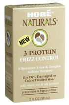 Hobe Naturals 3-protein Frizz Control, 2-Ounce Boxes Pack of 3