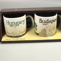 starbucks Hungary Budapest 2 demitasse cups collectible mugs gift for mom - $41.23