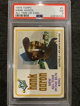 1974 Topps #1 Hank Aaron PSA 3  All Time Home Run King - $24.50