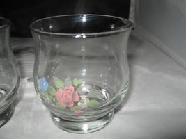 "(3) Pfaltzgraff ""TEA ROSE"" 8 oz Juice /On the Rocks Glass Glassware - $5.00"