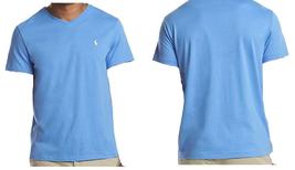 Polo Ralph Lauren Men's Cotton Jersey V-Neck T-Shirt Blue - L - $34.64