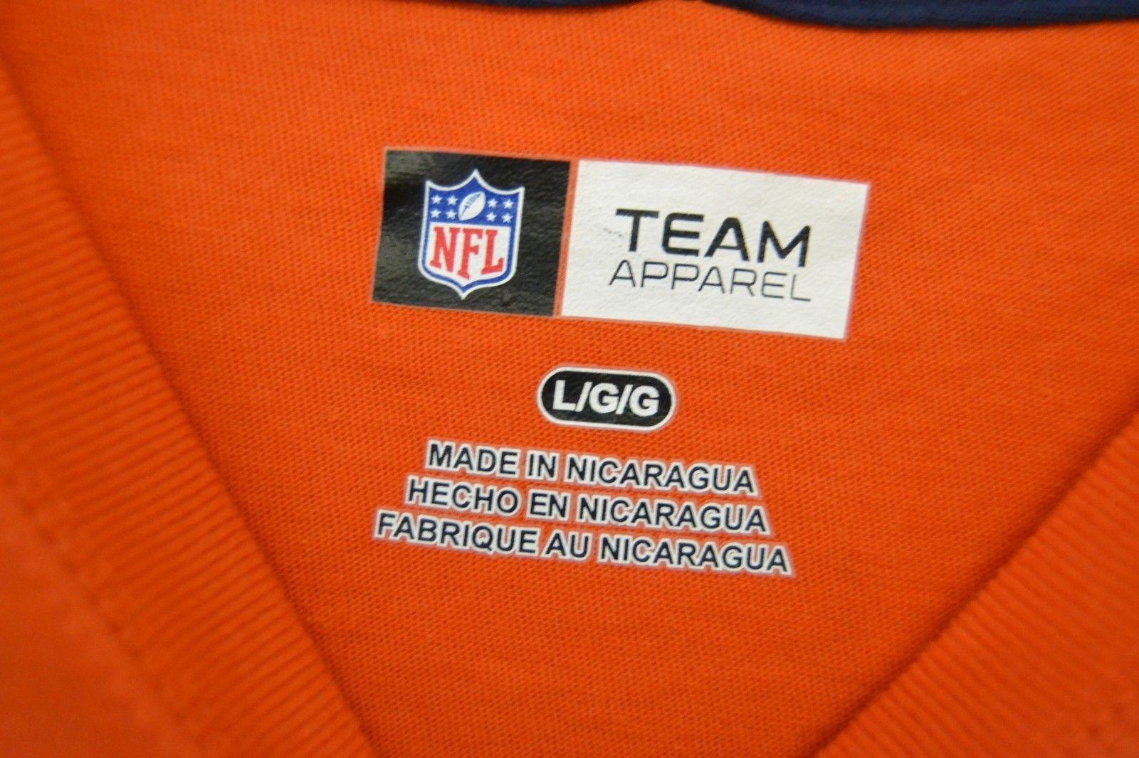 NFL Team Apparel Denver Broncos Orange Long Sleeve Graphic T-Shirt Sz L NWT image 4