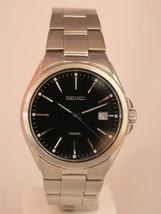 Seiko men watch 7N42 casual silver dial SGEE31 - $170.28