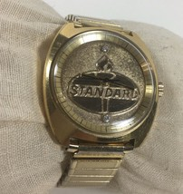 Standard Oil Watch AS 2062 Automatic Movement Working 36mm 1970s Vintage - $266.31