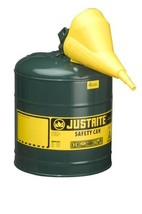 Justrite 7150410 Type I Galvanized Steel Oils Safety Can with Funnels Va... - $63.80