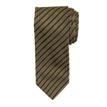 Gianfranco Ferre 100% Silk Black Light Brown Striped Men's Neck Tie Necktie - $48.51