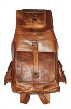 Prastara Real Leather Vintage Backpack Bag Rucksack Bag. - $99.17 CAD