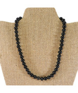 Vintage Black Onyx Bead Necklace - $39.50
