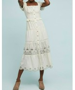 Anthropologie Frances Embroidered-Buttondown Dress by RAHI Cali - NWT - $107.99