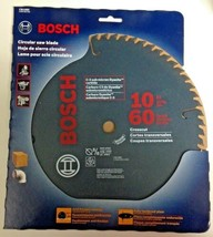 "Bosch CB1060 10"" x 60 Teeth Crosscut Circular Saw Blade With 5/8"" Arbor - $22.77"