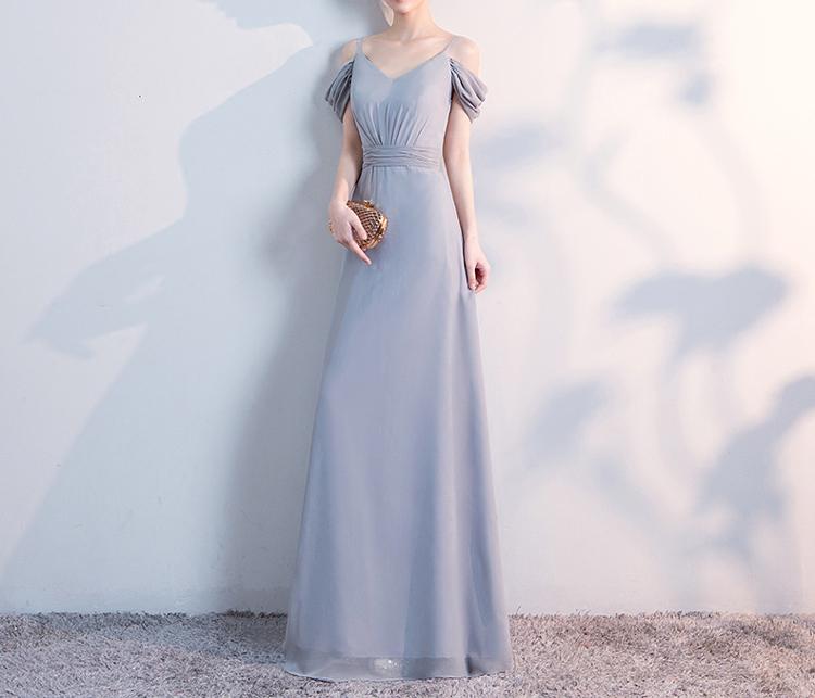 Gray bridesmaid dress 3