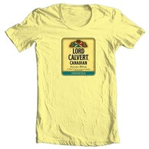 Lord Calvert T-shirt Canadian Whisky beer yellow white 100% cotton graphic tee image 2