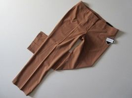 NWT Nine West The Trouser in Golden Hour Brown Stretch Dress Pants 14 x 32 - $21.99