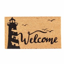 Evergreen Flag 2RM409 Lighthouse Welcome Flocked Coir Mat, Multi-Colored - $32.21