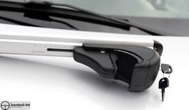 Black Fit For HYUNDAI ix35 Top Roof Rack Cross Bars Rails Lockable 2010-2015 - $111.27