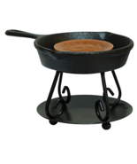 Cast Iron Skillet Wax Melt Tart Oil Warmer Burner Tealiight / Votive Can... - $13.99