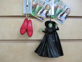 WIZARD of OZ Ornaments - Set of 2 - Wicked Witch of the West & Ruby Red ... - $10.00