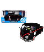 Volkswagen Type 2 (T1) Double Cab Pickup #8 Matt Black 1/24 Diecast Car ... - $48.95