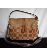 MICHAEL KORS Leather Purse Bag Tan Magnet Closure 12 by 15 2 handles NWOT - £61.81 GBP