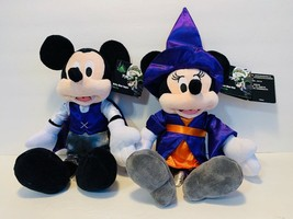 Disney Parks Halloween 2019 Mickey Vampire and Minnie Witch 11in Plush D... - $48.99