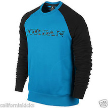 NIKE Jordan Retro 10 Accomplished Crew Sweater XL X-Large Vivid Blue Bla... - $64.99