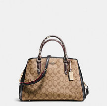 SMALL MARGOT CARRYALL F 38380  Satchel Tote SIGNATURE EXOTIC-EMBOSSED NWT  - $192.56