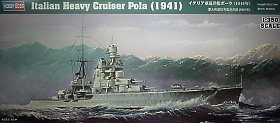 Hobby Boss 1/350 1941 Italian Heavy Cruiser POLA,  Kit 86502