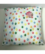 Royal Deluxe Accessories White Gum Ball Candy Themed Plush Pillow - $10.30