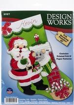 "Design Works Felt Stocking Applique Kit 18"" Long-Santa W/Mouse - $20.73"